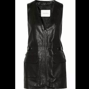 Balmain leather vest